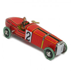 Vintage Wind Up Racing Car Model Clockwork Tin Toy Collectible Gift
