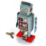 Weinlese Wind up Tin Toy Triebfeder Roboter Spielzeug mit Schlüssel Klassiker & Retro Spielsachen