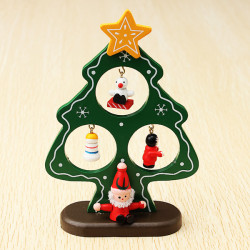 Wooden Christmas Tree Christmas Decorations Novel Kids Gift