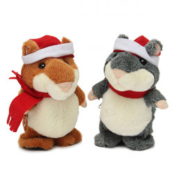 XMAS Talking Walking Hamster Pet Record Plush Toy Gift