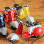 Zakka Crafts Handmade Retro Mini Scooter Motorcycle Model Toys Model