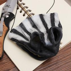 Zebra Mask Scary Half Face Masker til Halloween Kostumer Party