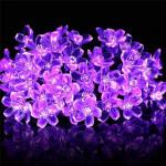 10M Cherry Blossom Flower Garland RGB LED String Crystal Flowers Holiday Lights