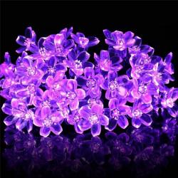 10M Kirschblüte Blumengirlande RGB LED String Kristallblumen