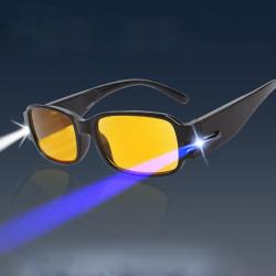 Læsning Briller med Lampe LED Lys Nat Vision Briller