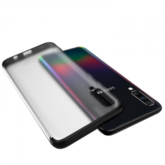 3 in 1 Detachable Matte Translucent Plating Shockproof Case Samsung Galaxy A70 2021