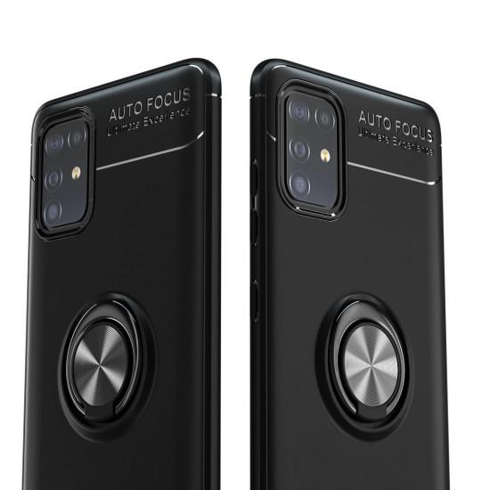 360 Roterande Magnetisk Ringhållare TPU Stötsäker Skal Samsung Galaxy A71 2021
