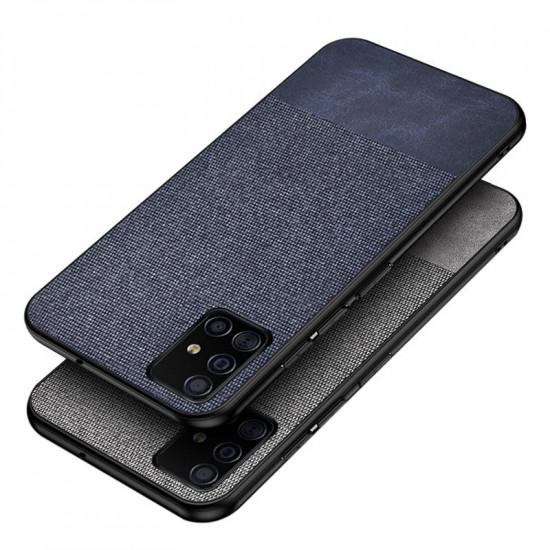 Anti-fingerprint Cotton Canvas Konstläder Skal Samsung Galaxy A51 2021