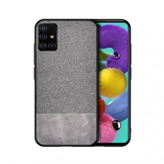Anti-fingerprint Cotton Canvas Konstläder Skal Samsung Galaxy A71 2021