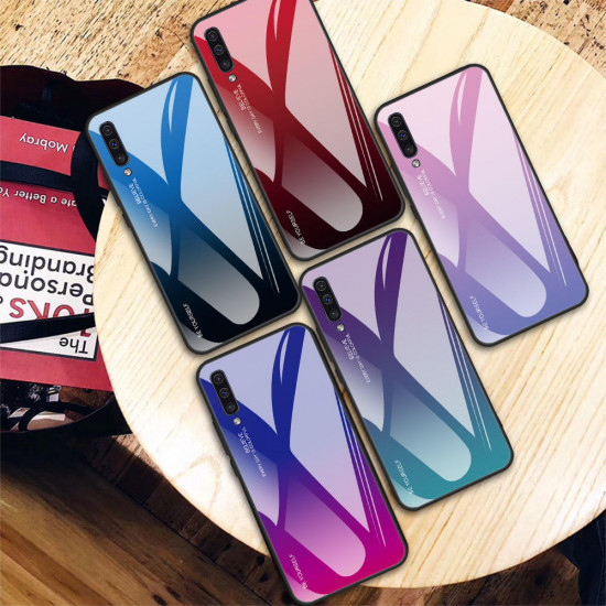 Gradient Tempered Glass Case Samsung Galaxy A70 Scratch Resistant Cover 2021
