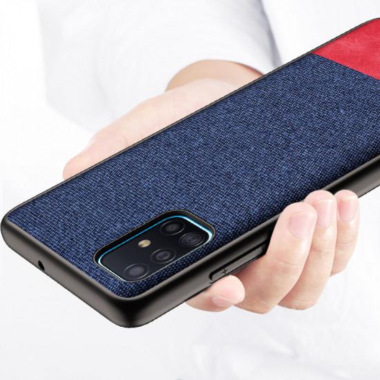 Luxury Cotton Canvas Stötsäker Anti-sweat Skal Samsung Galaxy A71 2021