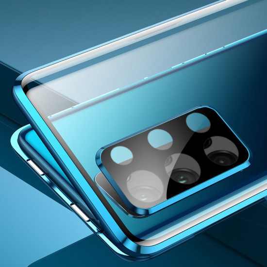 2 in 1 Magnetic Flip Tempered Glass + Metal Lens Protector Cover Case Samsung Galaxy S20 / S20 5G 2021