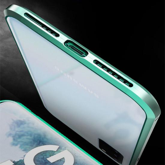 2 i 1 Magnetisk Flip Härdat Glas + Metal Kameralinsskydd Fodral Samsung Galaxy S20+ / S20 Plus 5G 2021