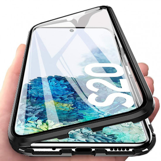 360 Curved Magnetic Flip 9H Tempered Glass Metal Cover Case Samsung Galaxy S20 / S20 5G 2021