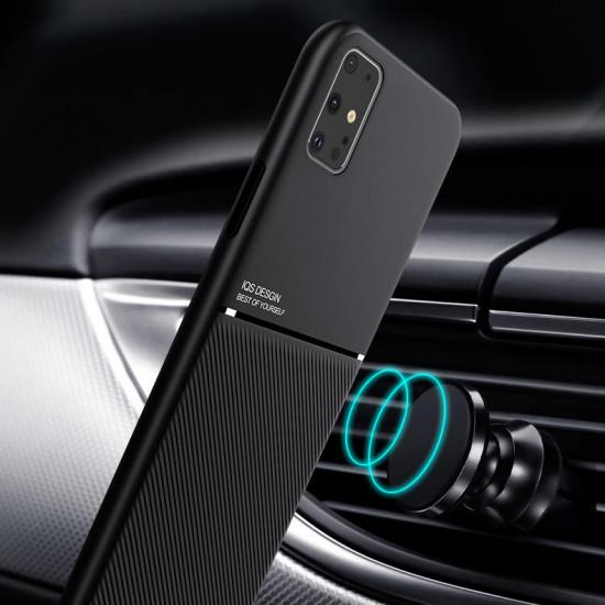 Magnet Leder Struktur TPU Stoßfest Hülle Samsung Galaxy S20 Ultra 2021
