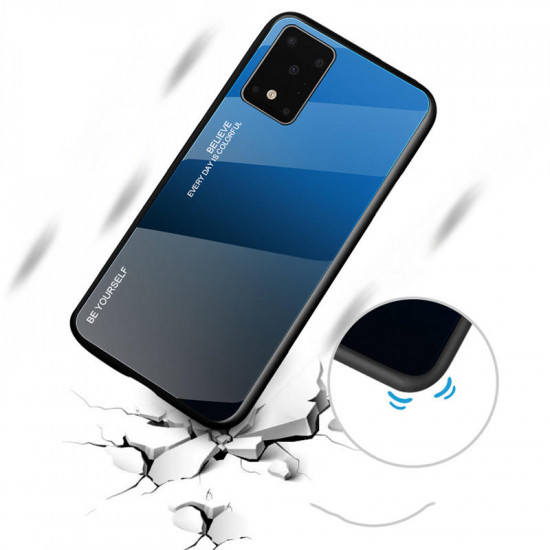 Samsung Galaxy S20+ / S20 Plus Gradient Color Tempered Glass Shockproof Scratch Resistant Case 2021