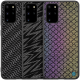 Luxury Luster Twinkle Shield Woven Polyester + PU Leather Back Case Samsung Galaxy S20+ / S20 Plus 5G 2021