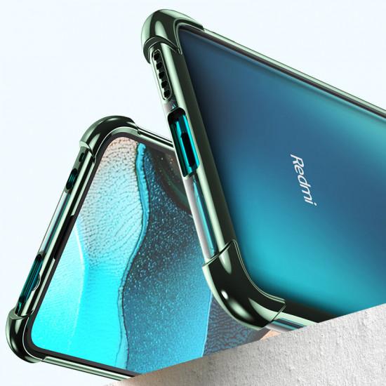 2 i 1 Airbag Kameralinsskydd Tunt Anti-Fingeravtryck Stötsäker Transparent Skal Poco F2 Pro / Xiaomi Redmi K30 Pro 2021