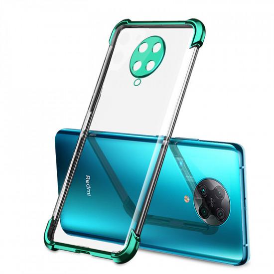 2 in 1 Airbag Kamera Linsenschutz Dünne Anti-Fingerabdruck Stoßfest Transparent Soft Hülle Poco F2 Pro / Xiaomi Redmi K30 Pro 2021
