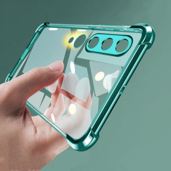 2 in 1 Airbag Kamera Linsenschutz Dünne Anti-Fingerabdruck Stoßfest Transparent Soft Hülle Xiaomi Mi10 Mi 10 2021