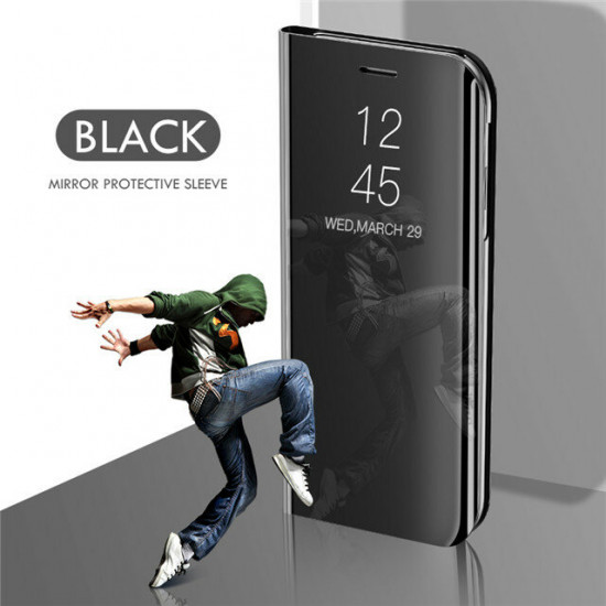 Flip Mirror Window Stoßfest Schutzhülle + HD Clear 9H Panzerglas Displayschutz Xiaomi Poco F2 Pro / Xiaomi Redmi K30 Pro 2021