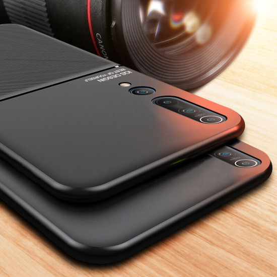 Magnetic Leather Texture Non-Slip TPU Shockproof Case Cover for Xiaomi Mi10 Mi 10 / Xiaomi Mi 10 Pro 2021