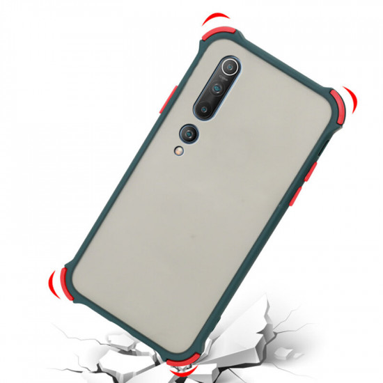 Xiaomi Mi 10 / Xiaomi Mi10 Pro Hülle Armor Airbag Stoßfest Anti-Fingerabdruck Matt Translucent PC + Silikon Edge Hülle 2021