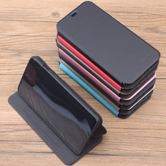 Xiaomi Mi 10 Lite Case Brushed Pattern Flip with Stand Card Holder Shockproof PU Leather Full Body Case 2021