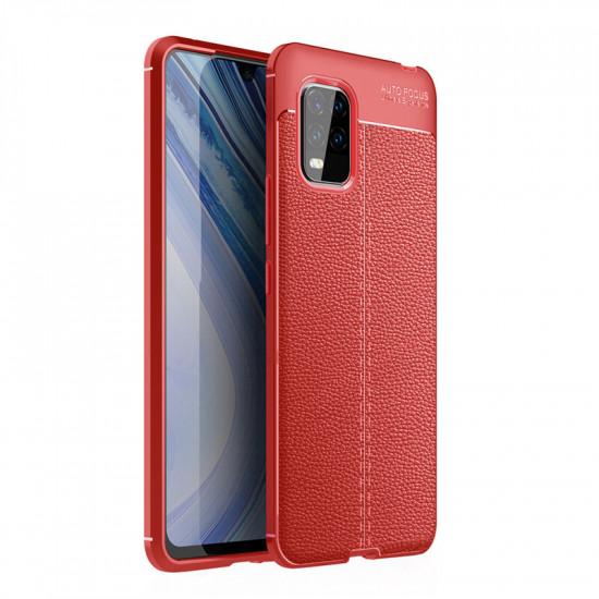 Xiaomi Mi 10 Lite Case Litchi Pattern Shockproof PU Leather TPU Case Cover 2021