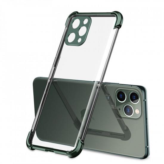 2 in 1 Airbag Plating Kamera Linsenschutz Dünne Stoßfest Transparent Hülle iPhone 11 Pro 2021