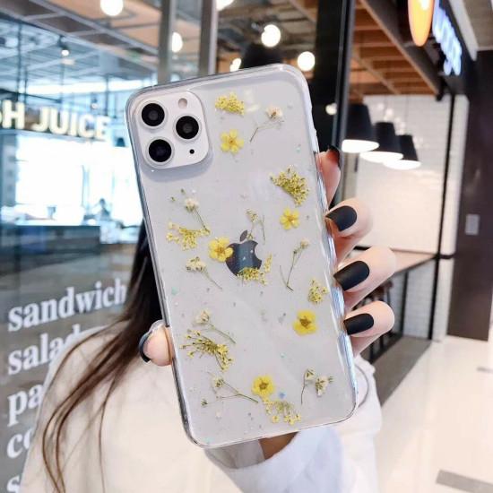 Dried Flower Pattern Transparent Women Case iPhone 11 / 11 Pro / 11 Pro Max 2021