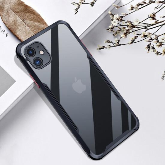 iPhone 12 Hülle Kamera Linsenschutzor Transparent Acrylic Rahmen Stoßfest Hülle Schutzhülle 2021
