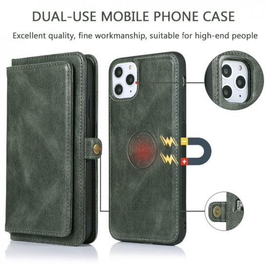 iPhone 12 Pro / 12 Hülle 2-IN-1 Detachable Magnet Flip Kartenhalter Wallet PU Leder Hülle 2021