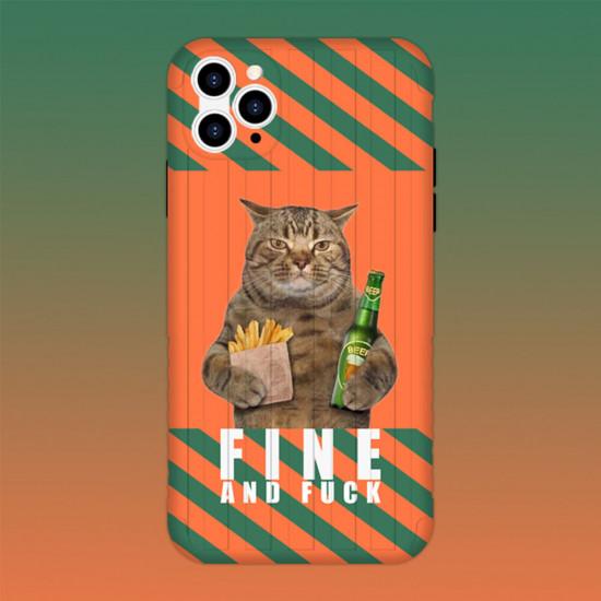 Gigantic Cat Pattern Case Cover iPhone 11 / 11 Pro / 11 Pro Max / X / XS / XR / XS Max / 7 / 8 / 7 Plus / 8 Plus 2021