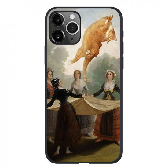 Retro Oil Painting Cat Pattern Case Cover iPhone 11 / 11 Pro / 11 Pro Max / SE / X / XS / XR / XS Max / 6S / 6S Plus / 7 / 8 / 7 Plus / 8 Plus 2021