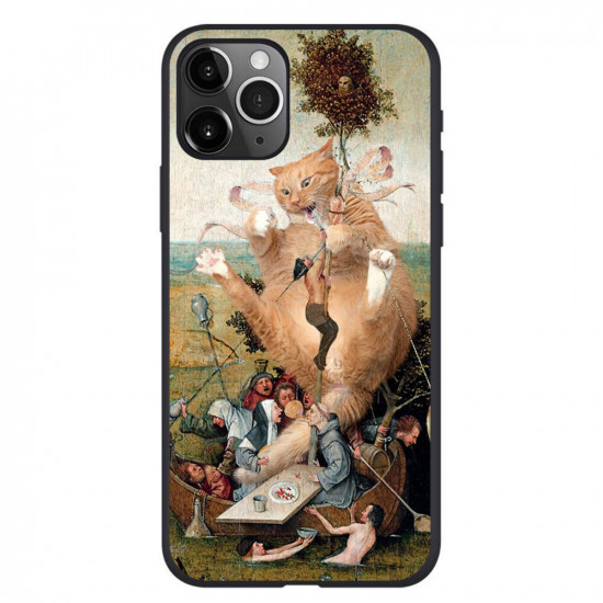Retro Oil Painting Cat Pattern Case iPhone 11 / 11 Pro / 11 Pro Max / SE / X / XS / XR / XS Max / 6S / 6S Plus / 7 / 8 / 7 Plus / 8 Plus 2021