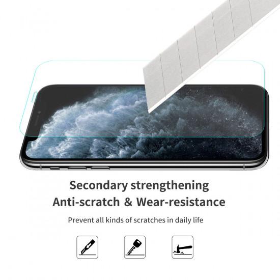 2 in 1 Canvas Hülle Displayschutz iPhone 11 Pro Stoßfest 9H Panzerglas 2021