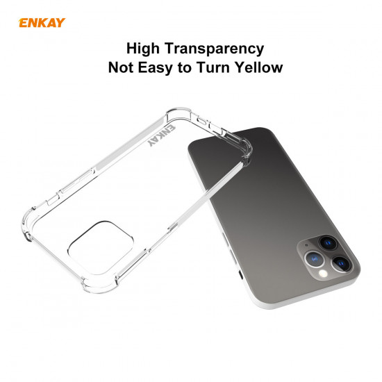2-in-1 iPhone 12 Pro / 12 Airbags Transparent Hülle 9H Panzerglas Displayschutz 2021