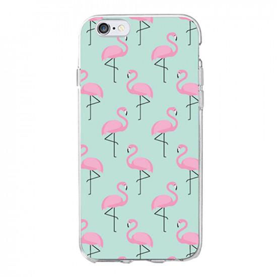 Flamingo Motiv Skal iPhone 5S / X / XS / XR / XS Max / 7 / 8 / 7 Plus / 8 Plus 2021