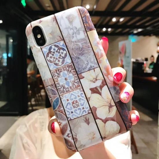Flower Pattern Case Cover iPhone X / XS / XR / XS Max / 6S / 6S Plus / 7 / 8 / 7 Plus / 8 Plus 2021
