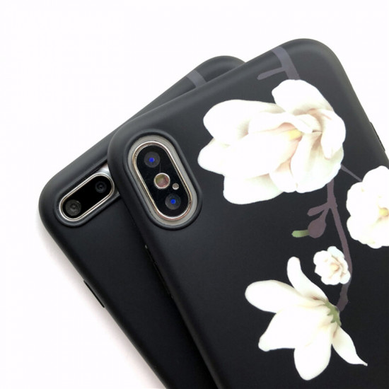 iPhone X / XS Hülle Retro Blume Motiv Stoßfest Hülle Schutzhülle 2021