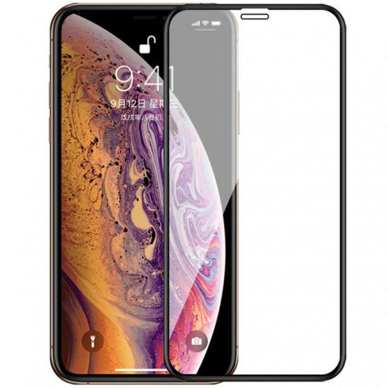 Upgrade 2.5D Curved Edge Silk Panzerglas Displayschutz iPhone X/XS/XR/XS Max 2021