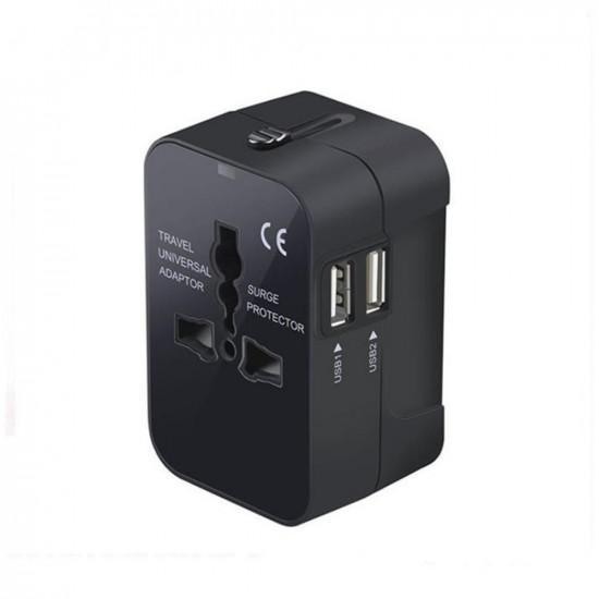 1000W 6A Dual USB Port Universal Stik Hurtig Oplader Adapter iPhone XS 11 Pro Huawei P30 Pro Mate 30 Mi9 9 Pro 5G 2021