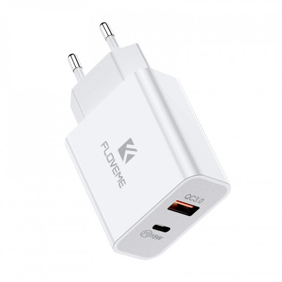 18W USB-C PD 3.0 QC3.0 Laddare SnabbLaddare iPhone 12 12 Pro Max One Plus 8 Pro 8T 2021