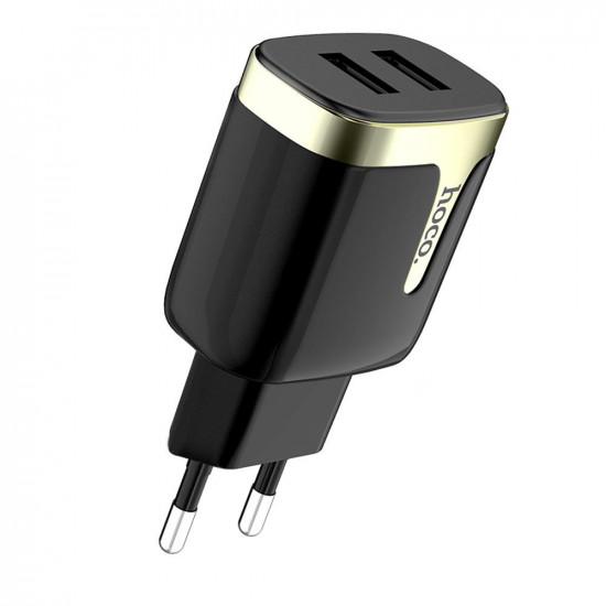 2.1A Dual Port Snabbladdare EU USB Laddare iPhone X XS iPad Pocophone F1 One Plus 7 HUAWEI MI9 S10 S10+ 2021