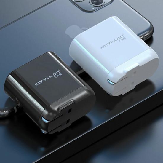 18W PD USB-C + USB Snabbladdare LED Display Väggladdare Samsung Galaxy Note S20 Ultra Huawei Mate 40 One Plus 8 Pro OPPO Vivo 2021