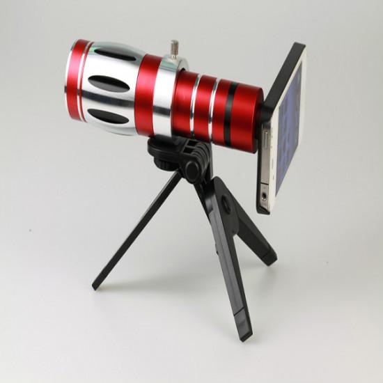 20x Zoom Aluminiumlegering Kamera Teleskop Lins för iPhone 4 4S 2021