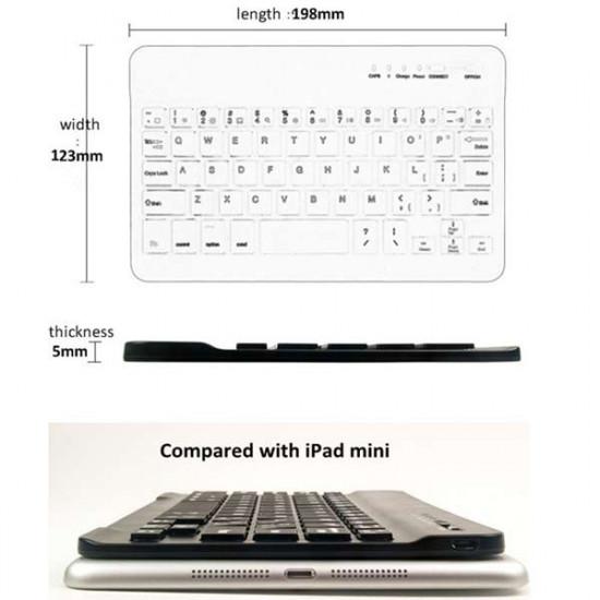 Aluminium drahtlose Bluetooth Mini Tastatur für MAC IOS 2021