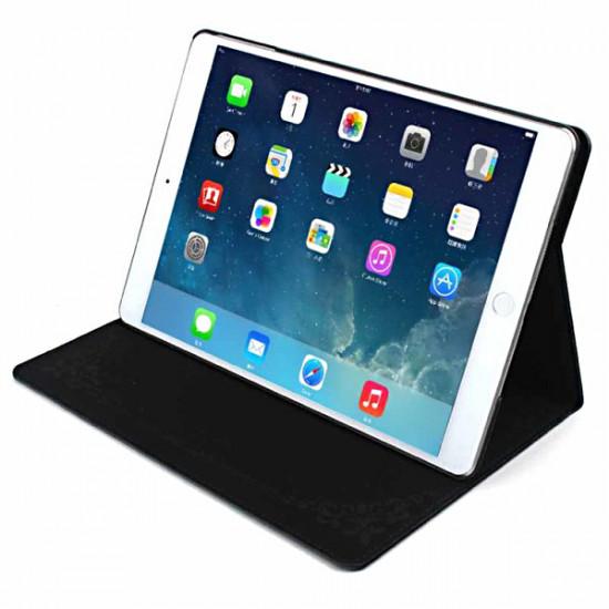 Bird Ådringsmönster PU Läderskyddsväska för iPad Air 2021