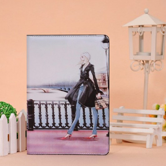Cool Sexy Girl Smart Folding Ställ PU Läder Fodral For iPad Mini 2021